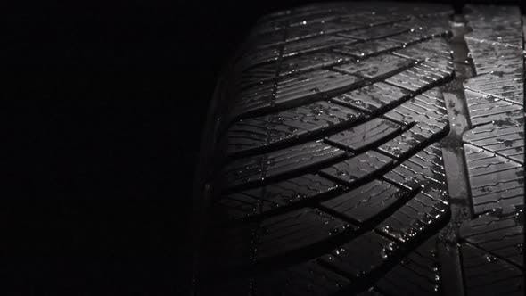 Slow Rotation Of A Car Tire
