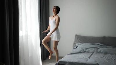 Woman Doing Morning Exercise