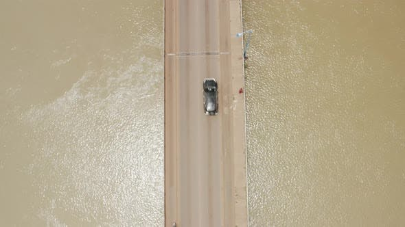 Cover Image for Africa Mali River And Bridge Top View