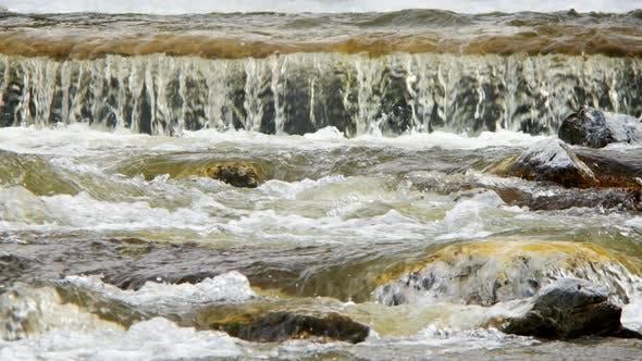 Thumbnail for Natural Waterfall And River