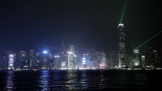 Thumbnail for Hong Kong Light Show At Night
