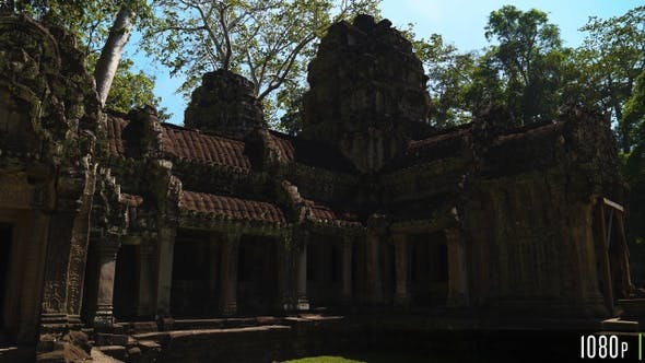Thumbnail for Exterior of Ta Prohm Temple, Part of the Angkor Wat Complex in Seam Reap, Cambodia