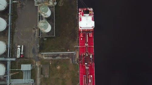 Oil tanker in sea port
