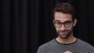 Winking Man In Glasses