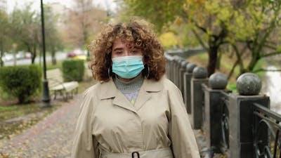 Quarantine Loneliness Autumn Melancholy Woman Park