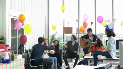 People party in workplace