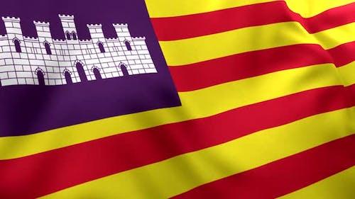 Balearic Islands Flag - 4K