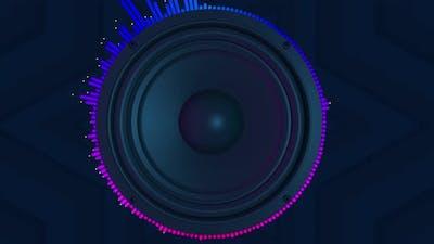 4k Speaker Music Sound 3d  Background