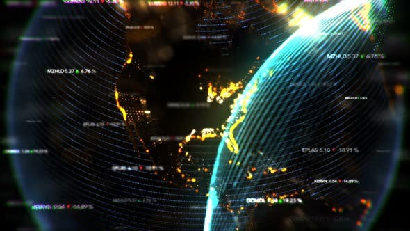 Thumbnail for Digital World Economy Seamless Loop