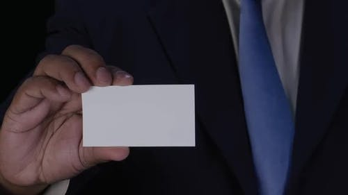 Displaying a Blank Business Card