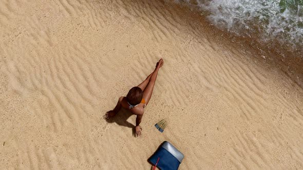 Thumbnail for Woman Sunbathing at the Beach