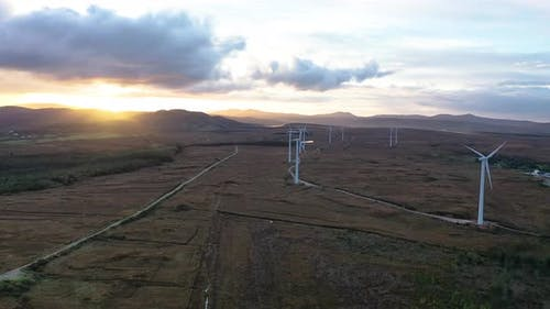 The Loughderryduff Windfarm Is Producing Between Ardara and Portnoo in County Donegal.