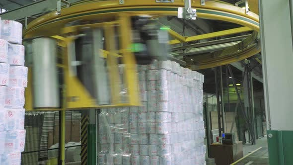 Thumbnail for A Working Conveyor in a Paper Mill, Technology, Factory. Kyiv, Ukraine