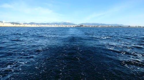Wake of Sailing Boat
