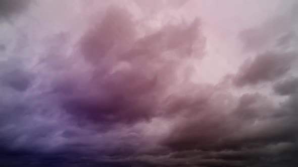 Time Lapse Of A Storm In A Cloudy Afternoon