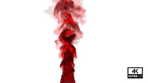 Huge Red Smoke Rising