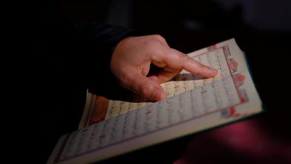 Sunlight Read Hands Quran Mosque