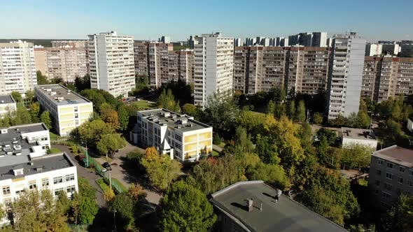 Thumbnail for Flight Over the Sleeping Area Zelenograd in Moscow, Russia