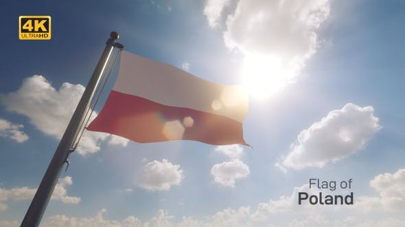 Thumbnail for Poland Flag on a Flagpole V2 - 4K