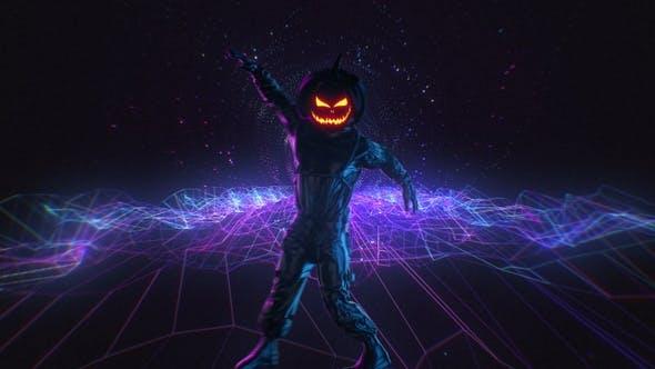 Halloween Kürbiskopf Tanzender Kerl