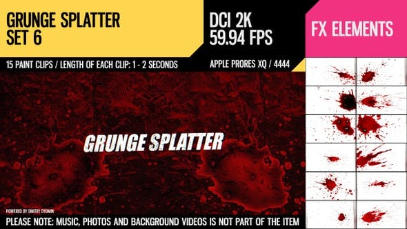 Thumbnail for Grunge Splatter (2K Set 6)