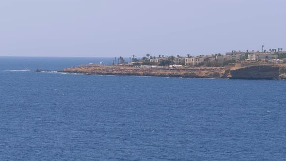 Thumbnail for Beaches and Hotels in Egypt Near the Shoreline on the Rocky Beach. Sharm El Sheikh