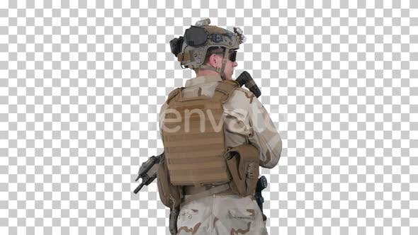 Fully Equipped Solder Holding Assault, Alpha Channel