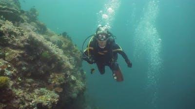 Diver Under Water