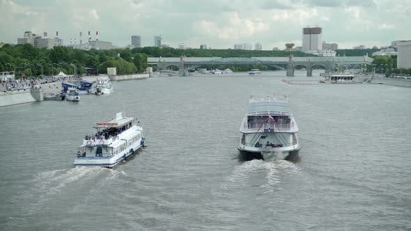 Thumbnail for Pleasure Boat Floating on the River