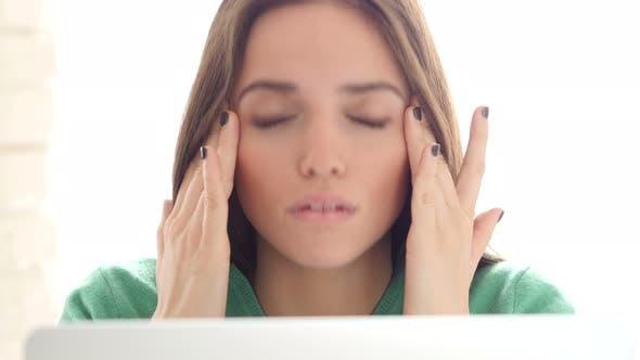 Thumbnail for Headache, Emotional Stress for Creative Designer Woman