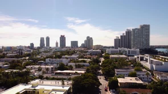 Aerial Rising Footage Miami Beach Neighborhoods