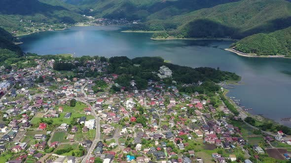 Thumbnail for Drone fly over Kawaguchiko in japan
