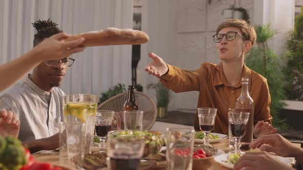 Thumbnail for Diverse People Having Dinner Together