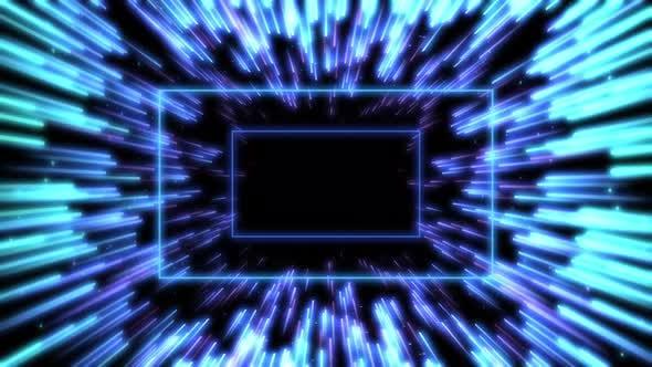 Abstract Quadrangle Blue Background