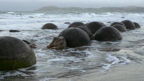 Moeraki Boulders in New Zealand