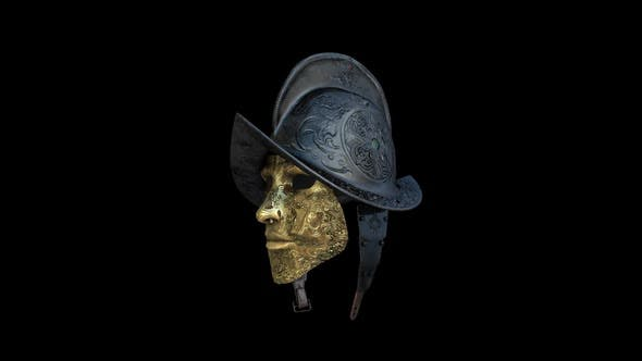 Thumbnail for Ancient Spain Soldier Helmet and Mask