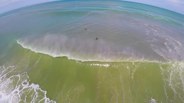 Thumbnail for Aerial view of an empty wave breaking