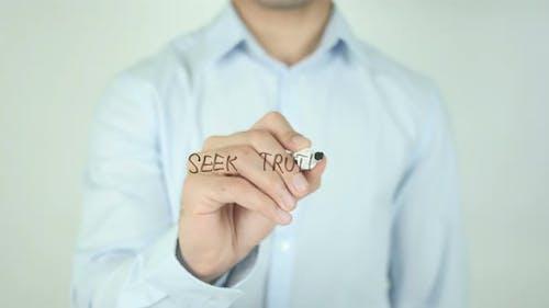 Seek Truth, Writing On Screen