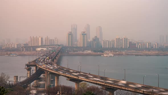 Thumbnail for The Cheongsam Bridge in Seoul before the Sunset