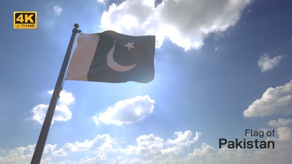Thumbnail for Pakistan Flag on a Flagpole V4 - 4K