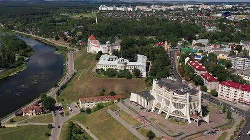 Top View of the City Center of Grodno Belarus