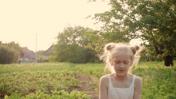 Thumbnail for Child Girl Playing With The Dandelion Flower