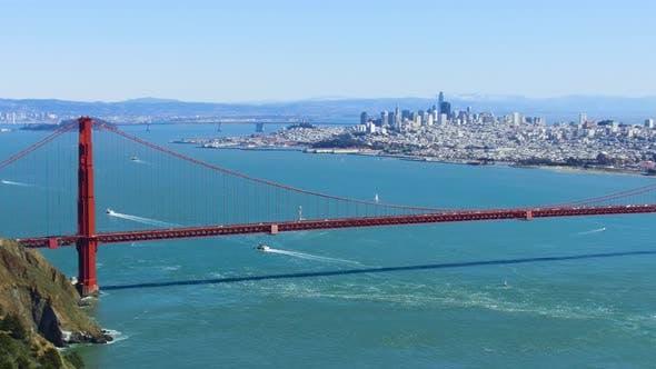 Thumbnail for View of Golden Gate Bridge Over San Francisco Bay