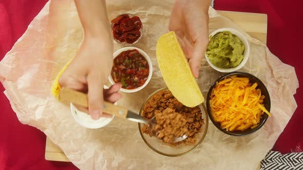 Traditional Mexican Food on Table Tex Mex Cuisine