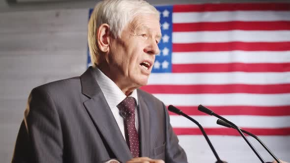 Thumbnail for Senior American Politician Speaking during Press Conference