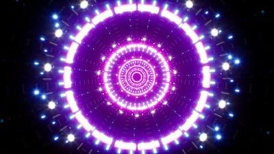 Abstract Neon Light Portal 4K Loop