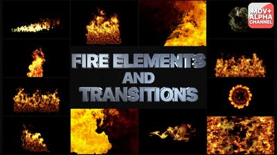 Fire Elements And Transitions Pack | Motion Graphics