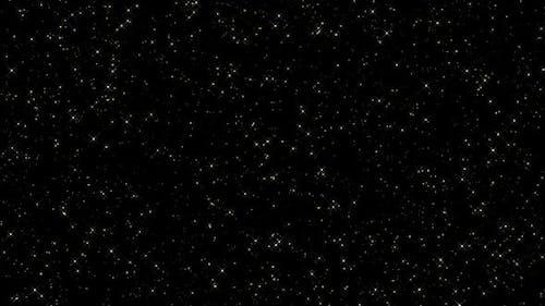 4k Sparkling Golden Stars
