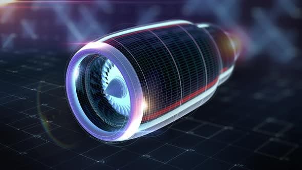 Thumbnail for Machine Detail of Airplane Engine Aerodynamics
