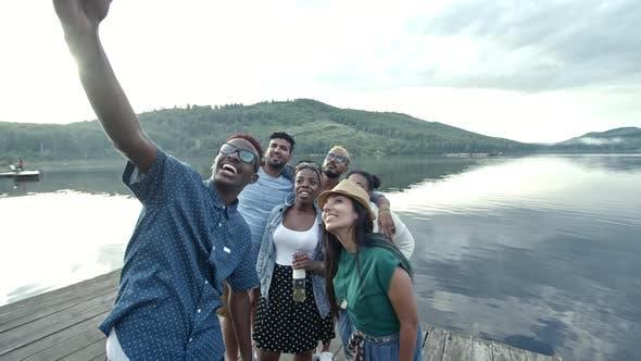 Taking Selfie with Friends